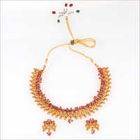 WST299 Beads Temple Necklace Set