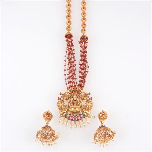 WST336RG Beads Temple Necklace Set