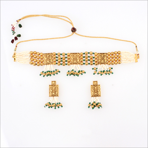 WST588 Beads Antique Necklace Set
