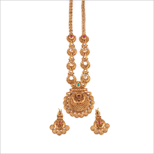 WST778R Beads Antique Necklace Set