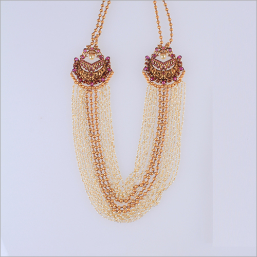 WST945R Beads Antique Necklace Set