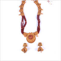WST958R Beads Antique Necklace Set