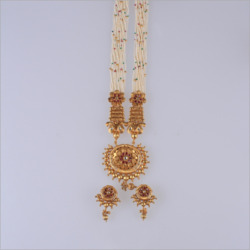WST1841R Beads Antique Necklace Set