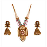 WST2296MLT Beads Antique Necklace Set