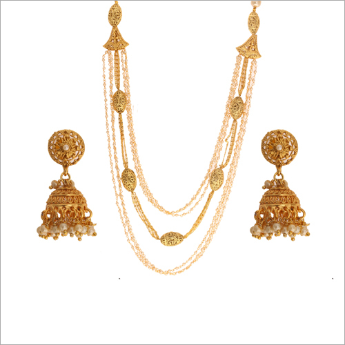 WST2375W Beads Antique Necklace Set
