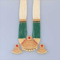 Beads Meena Kundan Necklace Set