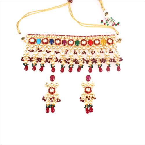 Ladies Kundan Scp Necklace Set