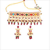 Ladies Kundan SCP Necklace Set