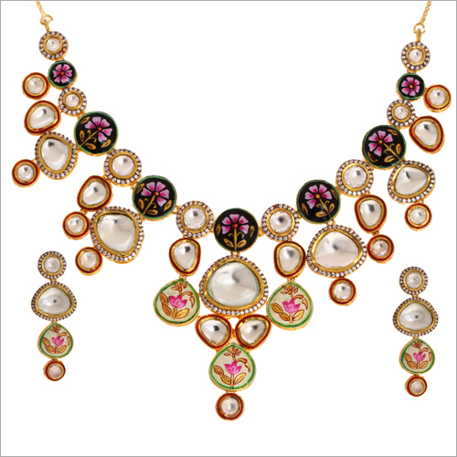 Ladies Meena Kari Necklace Set