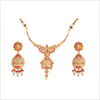 Fancy Meena Kari Necklace Set