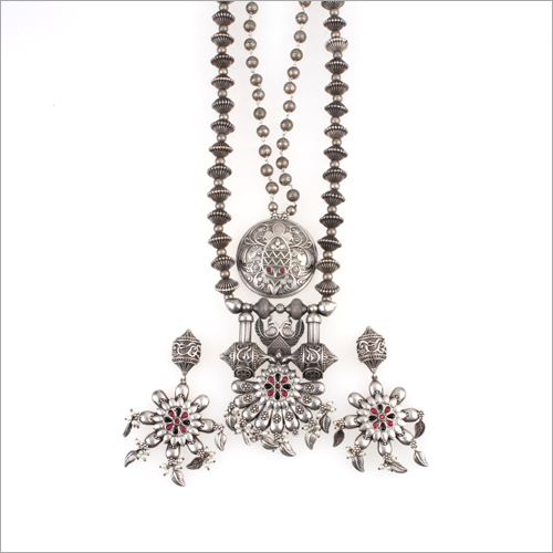 Ladies Oxidised Necklace Set