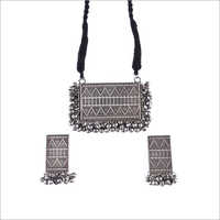 Ladies Fancy Oxidised Necklace Set
