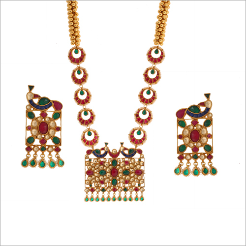 WST1707MLT Paachi Kundan Necklace Set