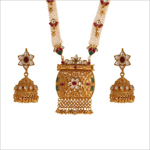 WST1728RG Paachi Kundan Necklace Set