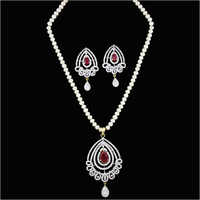 Fancy Pearl Necklace Set