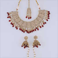Reverse AD Mehendi Necklace Set