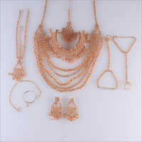 Fancy Reverse AD Rose Necklace Set