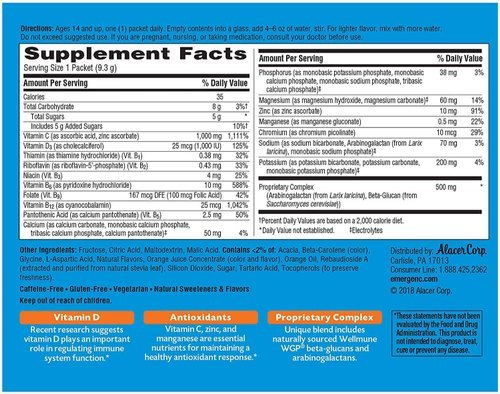 Emergen-C Immune Vitamin C Powder Plus Vitamin D And Zinc