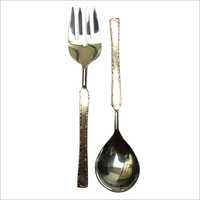Salad Server Copper Welded Set Of 2 Pcs-01