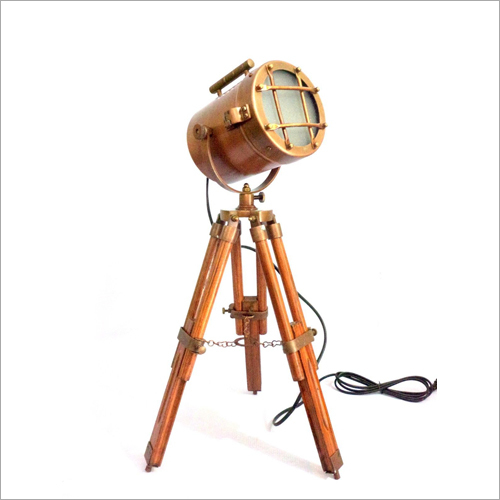Brass Nautical Spotlight With Stand