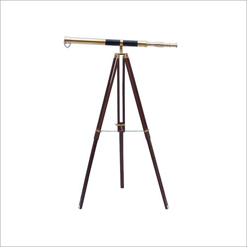 32x25 Admirals Floor Standing Brass With Leather Telescope