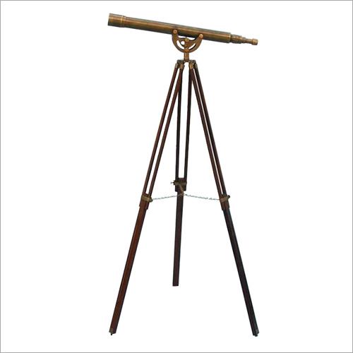 Floor Standing Antique Brass Anchormaster Telescope