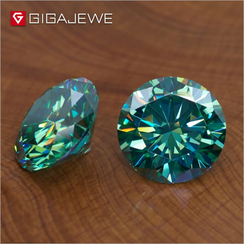 Green Color Moissanite Diamond