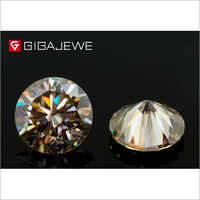 Brown Color Moissanite Diamond