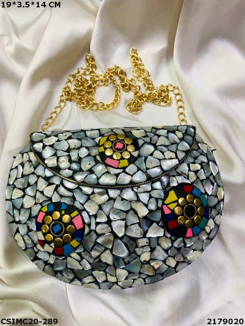 Metal Mosaic Clutches