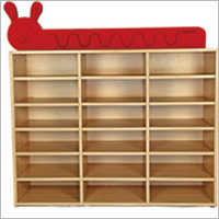 16 Section Wood Storage Rack