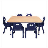 Omega Recatngle Blue Table And Chair