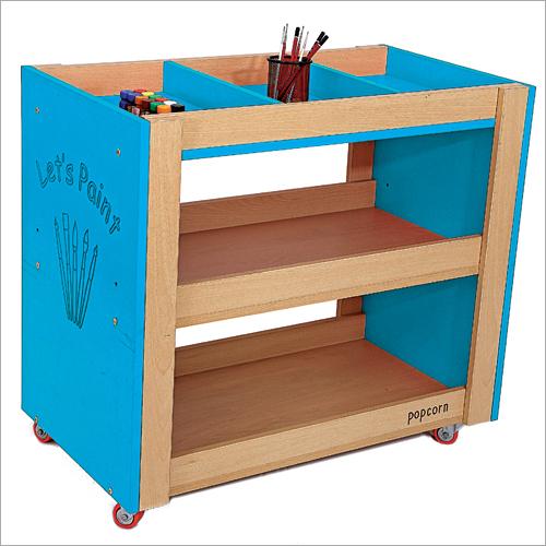 Wooden Storage Trolley