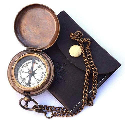 Nautical Brass Pocket Compass
