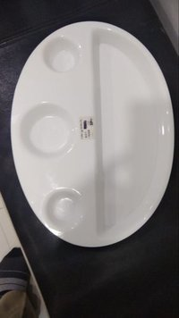 Acrylic Masala Dosa 4 Compartment Plate