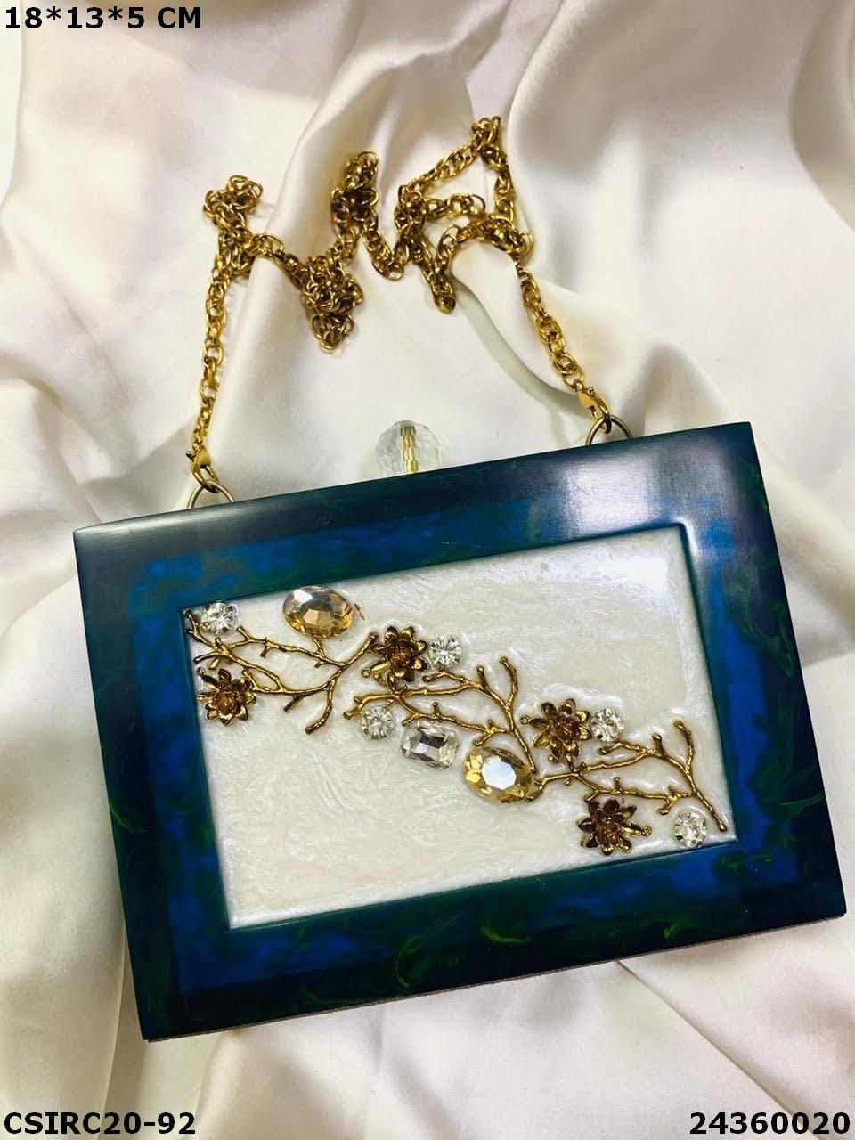 Designer Bridal Resin Clutches