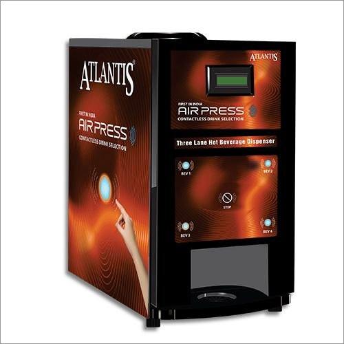 Atlantis Air Press Touchless Tea And Coffee Vending Machine 3 Lane