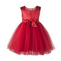 Toy Balloon Kids Girls Party wear Red Frock