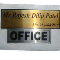Official Name Plate