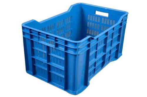 Blue Plastic Storage Container Crate ,