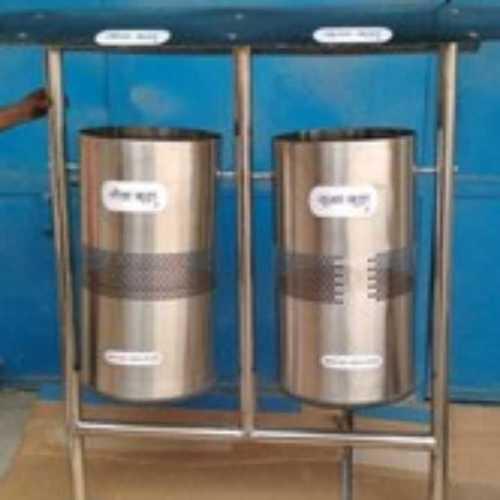Dual Stand Steel Dustbin
