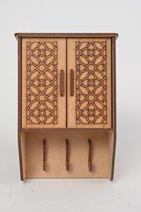 Wooden Carved Key Holder