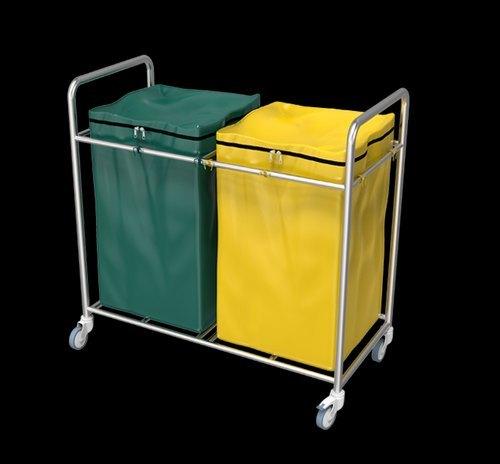 1064-B Double Bag Soiled Linen Trolley