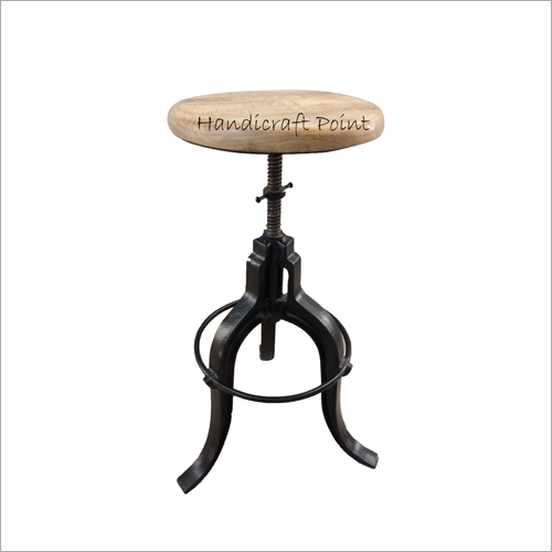 Industrial Style Crank Stool For Cafe And Restaurant