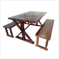 Solid Wood Restaurant Dining Set