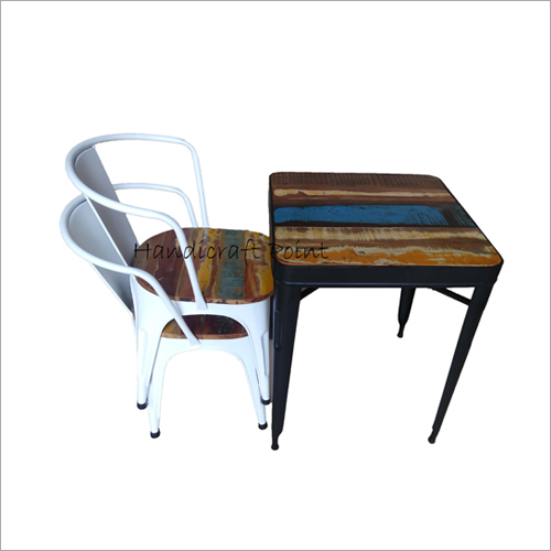 Industrial Cafe Chair With Table