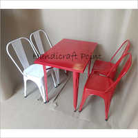 Iron Powder Coated Chairs And Tables