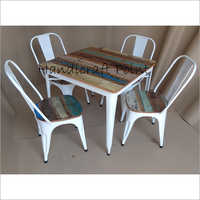 3x3 Tolix Dining Table Set