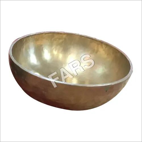 Golden Dull Large Singing Bowl