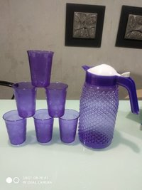 Plastic Pet Glass And Water Jug C