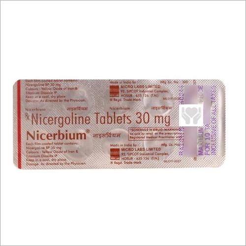 30 mg Nicergoline Tablets